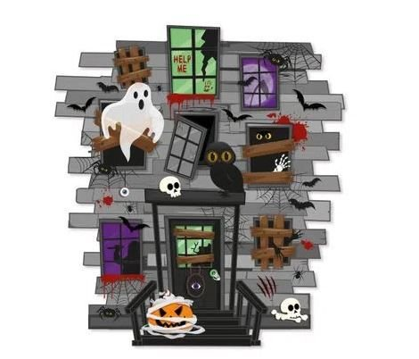 Painel de 2 Lâminas noite do terror Halloween - ÚNICO