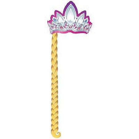 Coroa com Trança Cartonada Rapunzel Disney