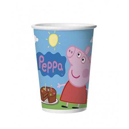 Copo de Papel Descartável Peppa Pig- 08 unidades