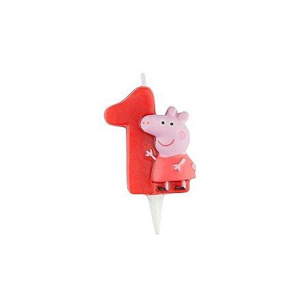 Vela de Aniversário Peppa Pig 3D - Nº 1