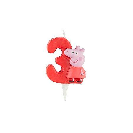 Vela de Aniversário Peppa Pig 3D - Nº 3