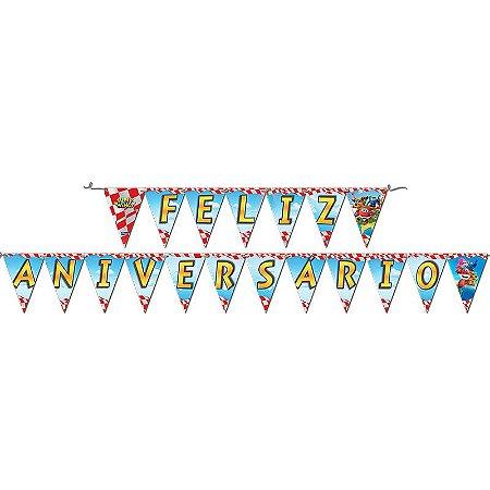 Faixa Feliz Aniversário Super Wings