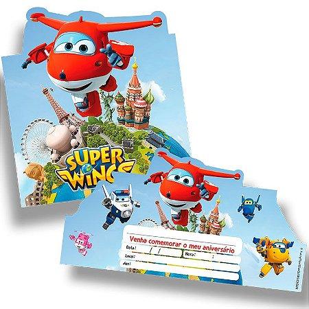 Convite - Super Wings - 08 unidades