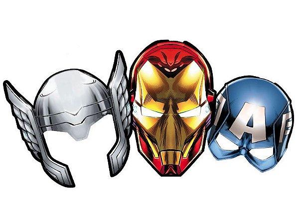 Máscara Os Vingadores - 06 unidades
