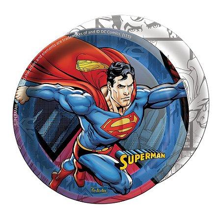 Prato de Papel - Superman - 08 unidades
