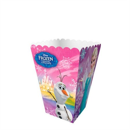 Caixa para Pipoca Frozen - 08 unidades
