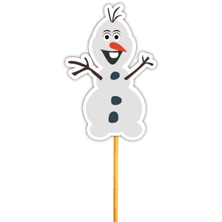 Enfeite Para Cupcake Boneco de Neve 12un