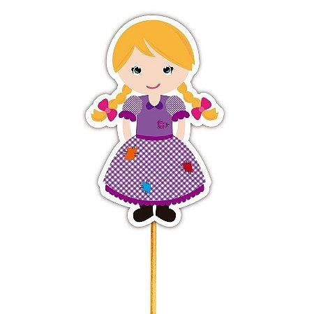 Enfeite Para Cupcake Menina Caipira 1