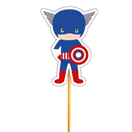 Enfeite Para Cupcake Capitao America