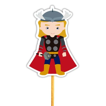 Enfeite Para Cupcake Justiceiro Thor