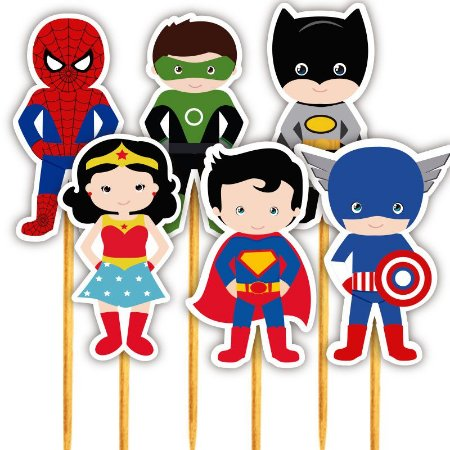 Enfeite Para Cupcake Super Heróis