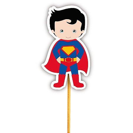 Enfeite Para Cupcake Herói Superman