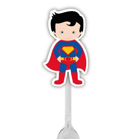 Colherzinha Para Brigadeiro do Super Heroi Superman