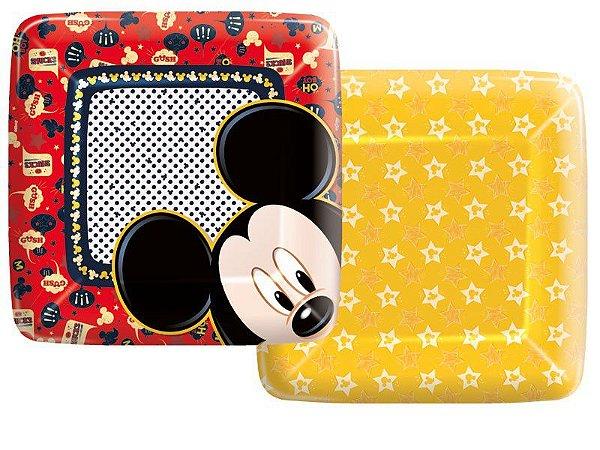 Prato Descartável Mickey Mouse
