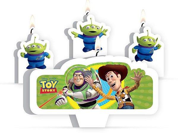 Vela de Aniversário Kit Toy Story
