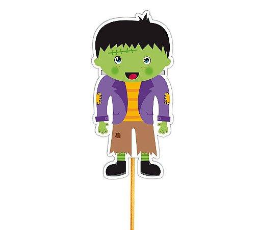 Enfeite Para Cupcake Frankenstein Halloween - 12 unid
