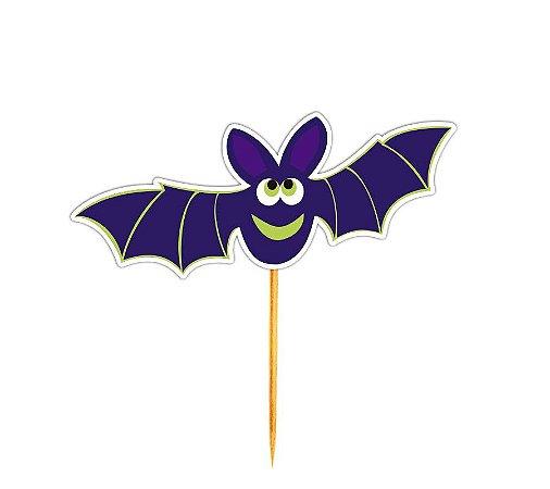 Enfeite Para Cupcake Morcegos Halloween - 12 unidades