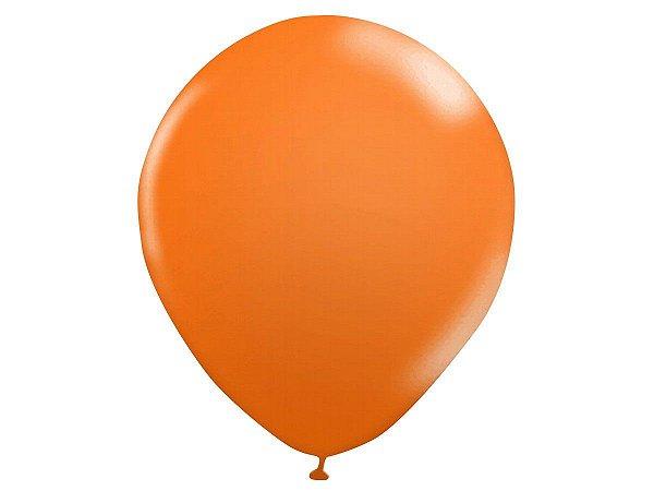 Balão n° 9 Polegadas - Laranja - 50 unidades