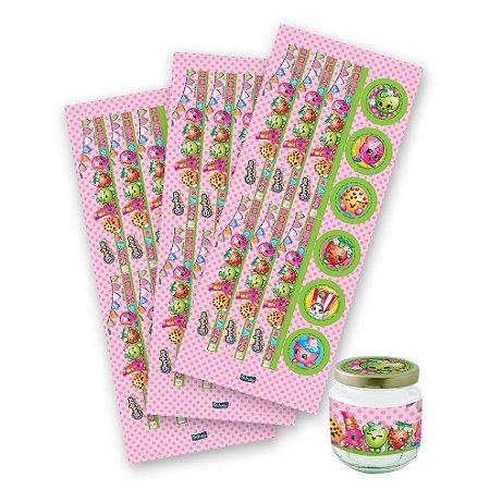 Adesivos para Lembrancinhas Shopkins - 3 cartelas