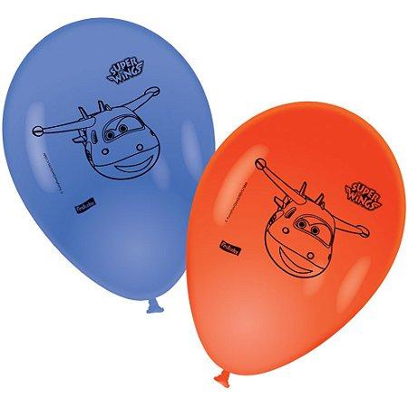 Balão de Festa Super Wings - 25 unidades