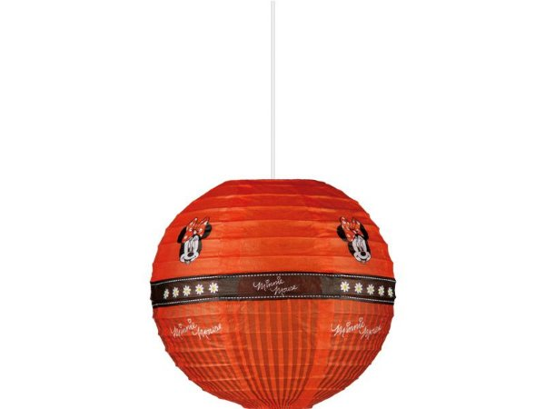 Lanterna de Papel 20 cm - Minnie Vermelha