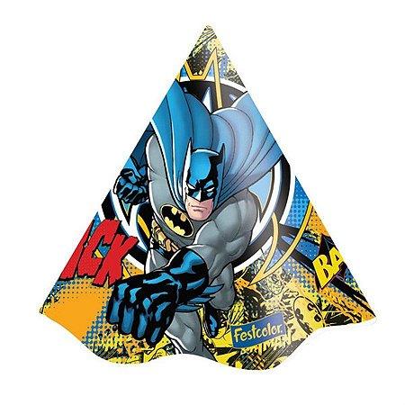Chapéu de Aniversário Batman - 08 unidades