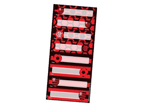 Adesivo decorativo Retangular Flamengo - 3 cartelas