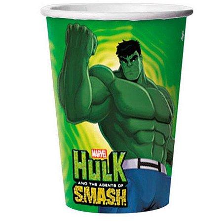 Copo Descartável 330ml Hulk