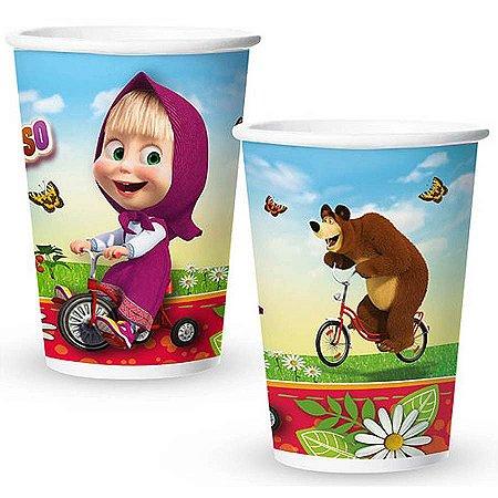 Copo de Papel 180ml - Masha e o Urso - 08 unidades
