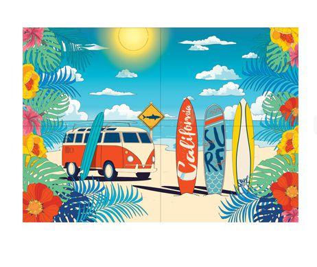 Painel Gigante 4 Folhas - Surf