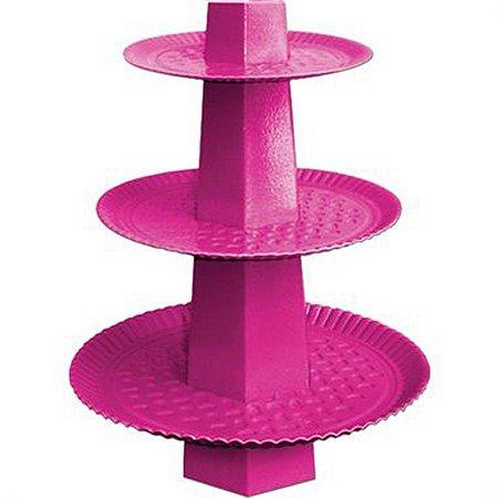 Baleiro 3 Andares - Rosa Pink