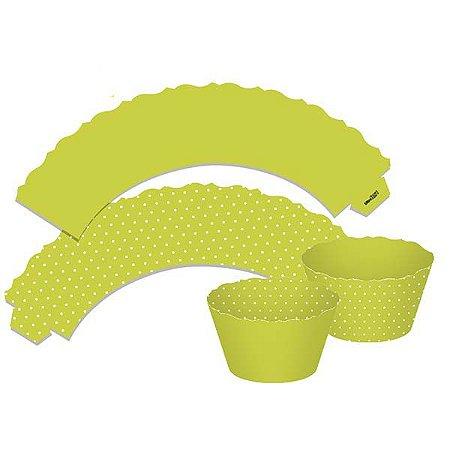Saia para Cupcake Dupla Face - Verde Claro - 12 unidades