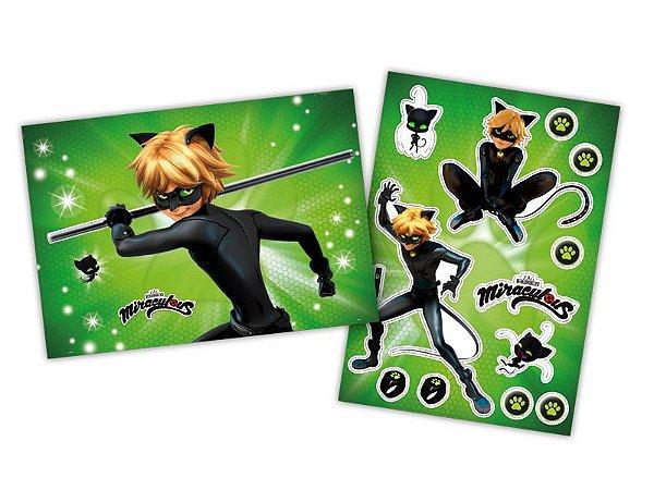 Kit Decorativo  Cartonado Ladybug Cat Noir