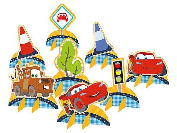 Decoração de Mesa Cartonada Cars Disney Junior