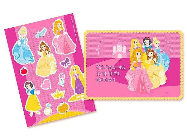 Kit Cartonado de parede Princesinhas Disney