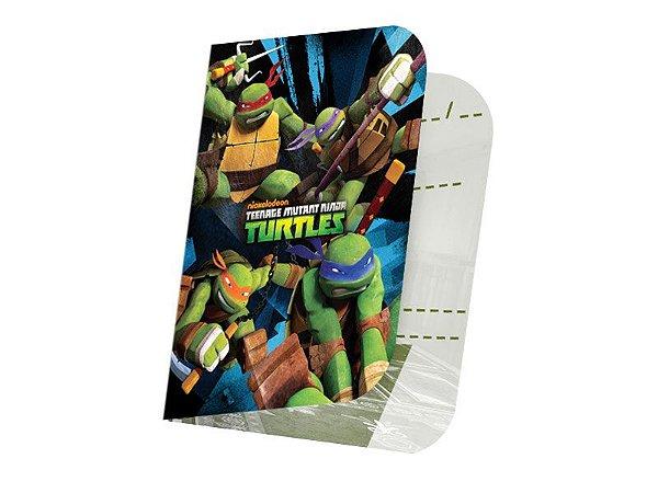 Convite de Aniversário Tartarugas Ninjas - 8 unidades
