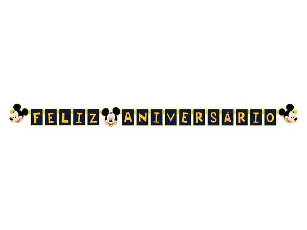 Faixa Feliz Aniversário Mickey Clássico