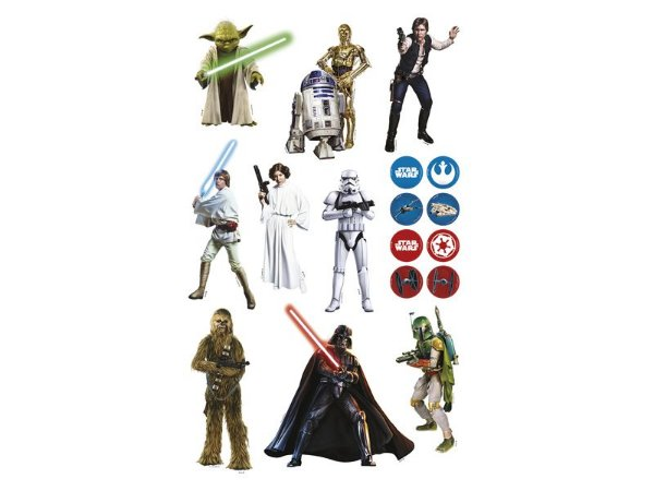 Mini Personagens Decorativos Star Wars - 10 unidades