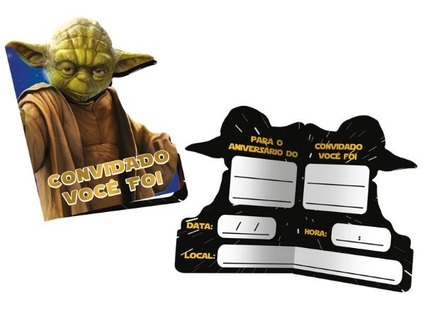 Convite Star Wars  - 08 unidades