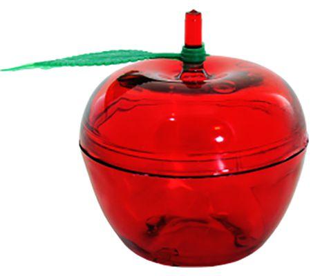 Mini Maçã em Acrílico Vermelha - 10 unid