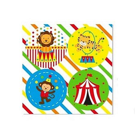Adesivo Redondo decorativo Circo - 20 und
