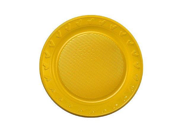 Prato descartável Amarelo - 15cm