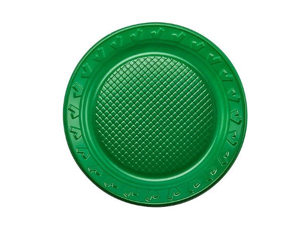 Prato Descartável Verde - 15cm