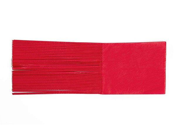 Papel de Bala vermelho - 48 unid