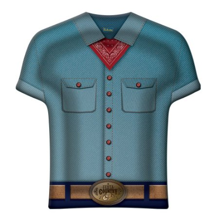 Bandeja Camisa Descartável Festa Country 8 unidades