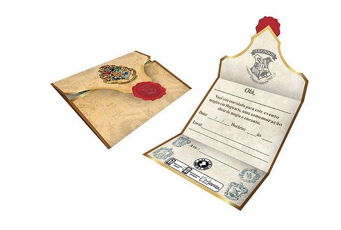 Convite de Aniversário  Harry Potter- 08 unidades