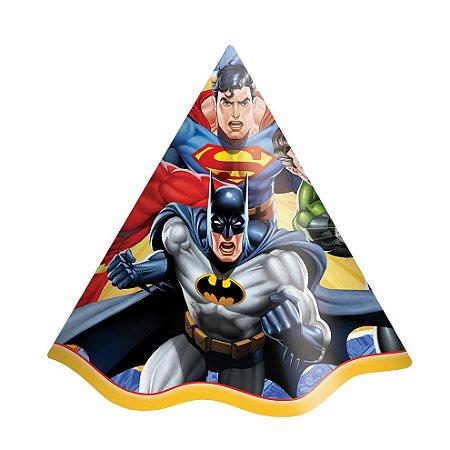 Chapéu de Aniversário - Liga da Justiça - 08 unidades