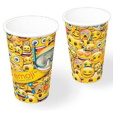 Copo de Papel 330ml - Emoji - 08 unidades