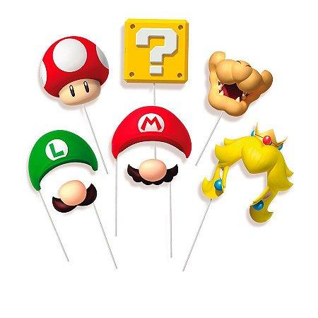 Plaquinhas Divertidas para Festa Super Mario Bross