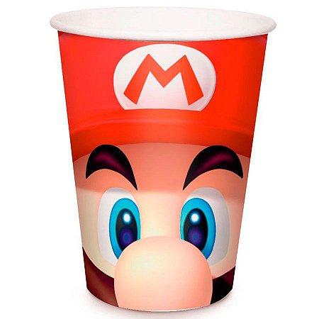 Copo de Papel 240ml - Super Mario Bros